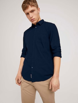 Finely textured shirt made with organic cotton  - 5 - TOM TAILOR Denim