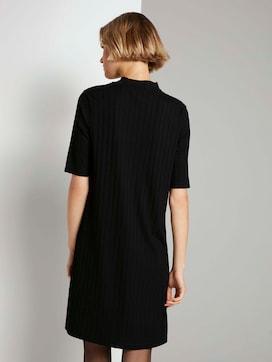 Korte rib jurk met opstaande kraag - 2 - TOM TAILOR Denim