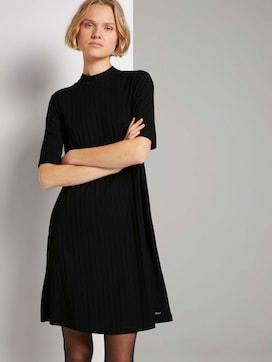 Korte rib jurk met opstaande kraag - 5 - TOM TAILOR Denim