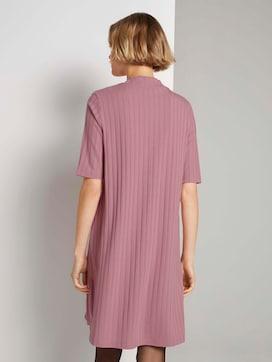Kurzes Ripp Kleid mit Stehkragen - 2 - TOM TAILOR Denim