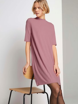 Short ribbed dress with a stand-up collar - 5 - TOM TAILOR Denim