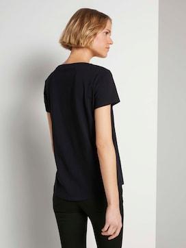 Geborduurde T-shirtmet biologisch katoen  - 2 - TOM TAILOR Denim