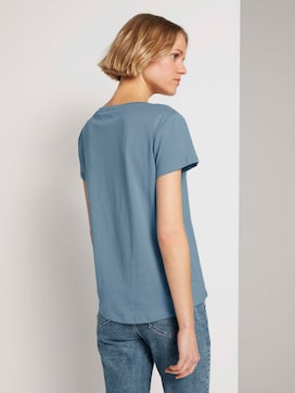 Besticktes T-Shirt mit Bio-Baumwolle   - 2 - TOM TAILOR Denim
