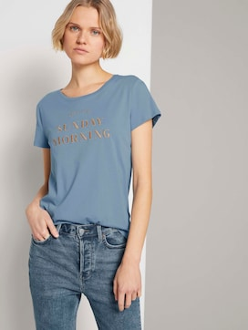Besticktes T-Shirt mit Bio-Baumwolle   - 5 - TOM TAILOR Denim