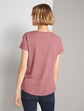 Embroidered t-shirtmade with organic cotton  - 2 - TOM TAILOR Denim