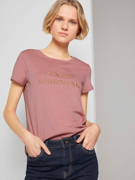 Embroidered t-shirtmade with organic cotton  - 5 - TOM TAILOR Denim