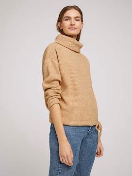 Turtleneck sweatshirt in a melange look - 5 - TOM TAILOR Denim