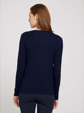Long-sleeved shirt with ruffles - 2 - TOM TAILOR