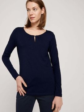Long-sleeved shirt with ruffles - 5 - TOM TAILOR