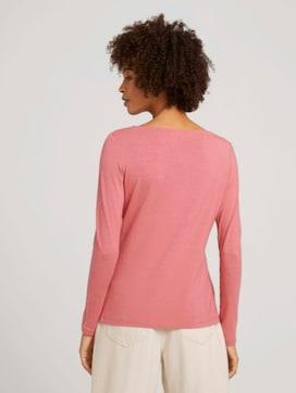 Shirt met lange mouwen en ruches - 2 - TOM TAILOR