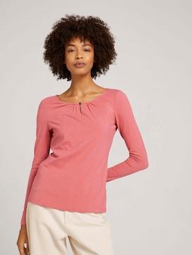 Shirt met lange mouwen en ruches - 5 - TOM TAILOR