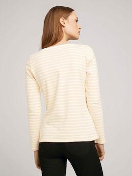 Gestreept shirt met lange mouwen met biologisch katoen  - 2 - TOM TAILOR Denim