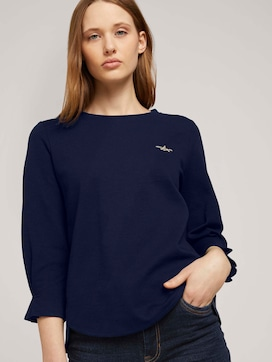 Sweatshirt mit Ärmeldetail  mit Bio-Baumwolle    - 5 - TOM TAILOR Denim