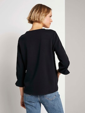 Sweatshirt with sleeve details made with organic cotton    - 2 - TOM TAILOR Denim
