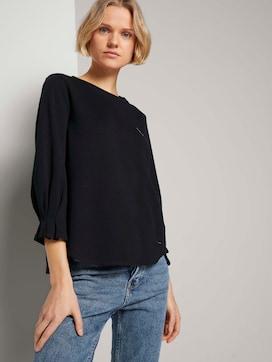 Sweatshirt met mouwdetail met biologisch katoen  - 5 - TOM TAILOR Denim