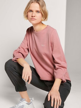 Sweatshirt with sleeve details made with organic cotton  - 5 - TOM TAILOR Denim