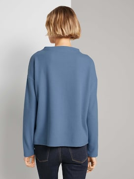 Sweatshirt met korte opstaande kraag - 2 - TOM TAILOR Denim