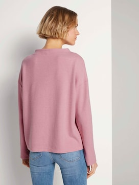 Sweatshirt with a short stand-up collar - 2 - TOM TAILOR Denim