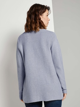 Textured cardigan made with organic cotton  - 2 - TOM TAILOR