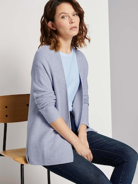 Textured cardigan made with organic cotton  - 5 - TOM TAILOR