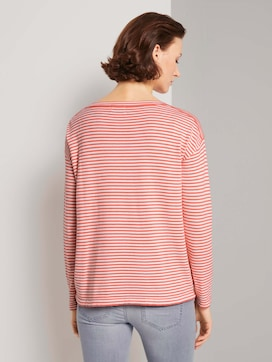 Striped pullover with a drawstring made with LENZING(TM) ECOVERO(TM)  - 2 - TOM TAILOR