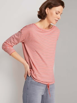 Striped pullover with a drawstring made with LENZING(TM) ECOVERO(TM)  - 5 - TOM TAILOR