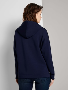 Hoodie with side slits - 2 - TOM TAILOR