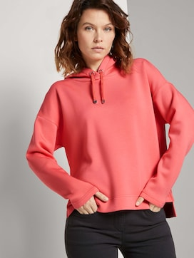 Hoodie with side slits - 5 - TOM TAILOR