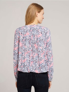 Printed blouse made with LENZINGTM ECOVEROTM - 2 - TOM TAILOR