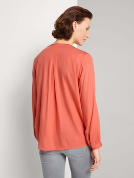 Pleated blouse made with LENZINGTM ECOVEROTM  - 2 - TOM TAILOR