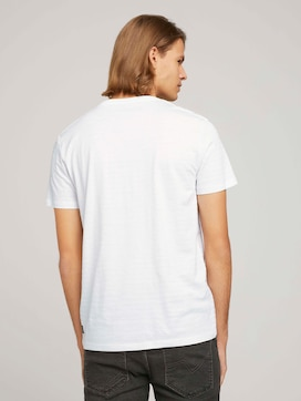 textured t-shirt with organic cotton - 2 - TOM TAILOR Denim