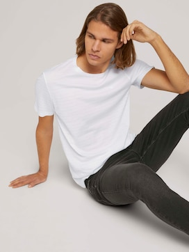 textured t-shirt with organic cotton - 5 - TOM TAILOR Denim