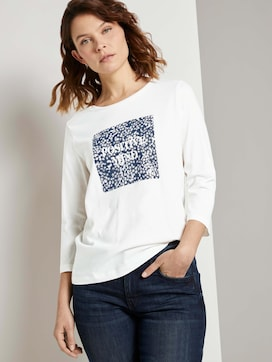 Shirt with a photo printmade with organic cotton  - 5 - TOM TAILOR