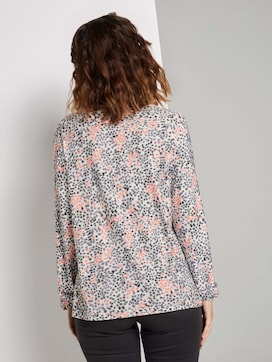 Patterned blouse top made with LENZING(TM) ECOVERO(TM)  - 2 - TOM TAILOR
