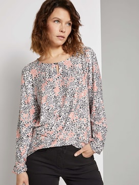 Patterned blouse top made with LENZING(TM) ECOVERO(TM)  - 5 - TOM TAILOR