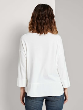 Loose Fit Shirt im Materialmix - 2 - TOM TAILOR