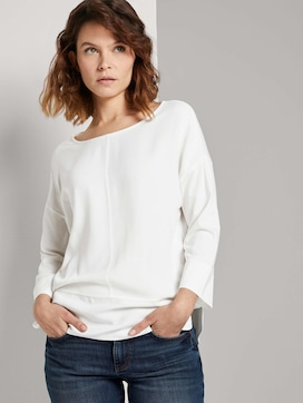 Loose Fit Shirt im Materialmix - 5 - TOM TAILOR