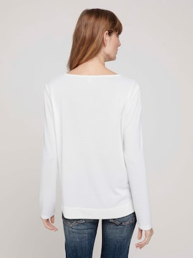 Long-sleeved shirt with a henley neckline - 2 - TOM TAILOR