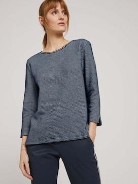 Getextureerd sweatshirt met zijsplitten - 5 - TOM TAILOR