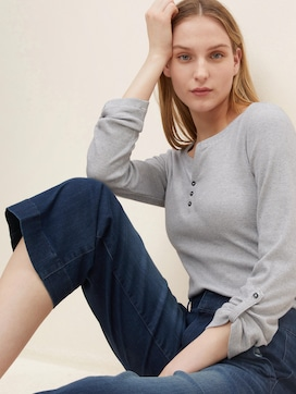 Gestreiftes Henley Shirt - 5 - TOM TAILOR