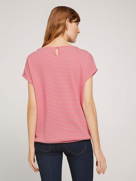 Textured striped t-shirt made with organic cotton  - 2 - TOM TAILOR