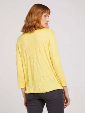 gemustertes T-Shirt mit elastischem Saum - 2 - TOM TAILOR