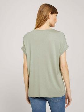 Henley T-Shirt im Materialmix - 2 - TOM TAILOR
