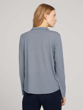 Gemustertes Henley Shirt - 2 - TOM TAILOR