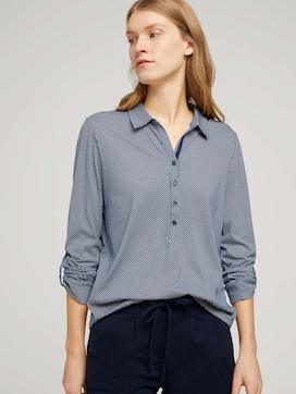 Gemustertes Henley Shirt - 5 - TOM TAILOR
