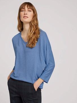 Gemêleerd overhemd met elastische tailleband - 5 - TOM TAILOR