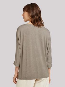 Meliertes Shirt mit elastischem Bund - 2 - TOM TAILOR