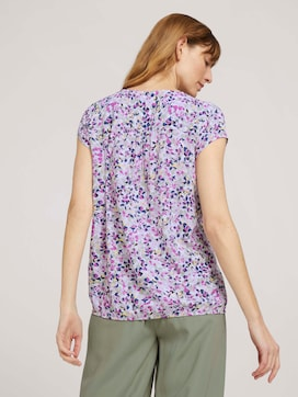 patterned blouse with a turn-down collar - 2 - TOM TAILOR