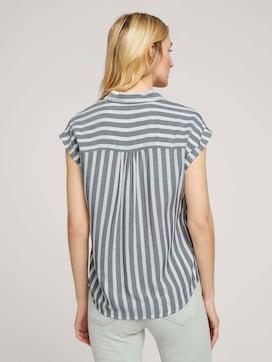 Striped short-sleeved shirt blouse - 2 - TOM TAILOR