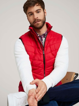 Lightweight quilted vest - 5 - TOM TAILOR